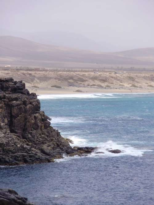 Fuerteventura Spain El Cotillo Scenery Calm Canary