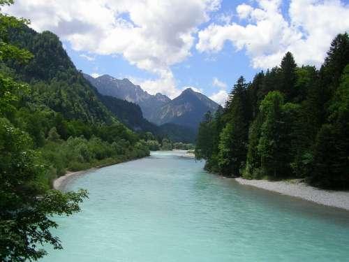 Füssen Allgäu River Mountains Lech