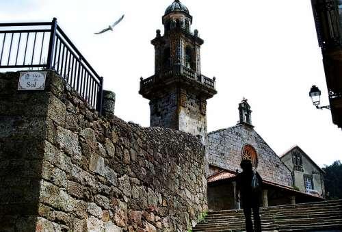 Galicia Seagulls Church Architecture Flight Peace