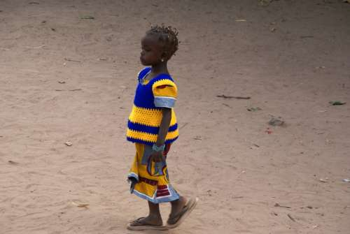 Gambia Girl Child Colorful Creole Africa