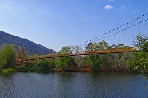 Gangavali River Hanging Bridge Scenic Greenery