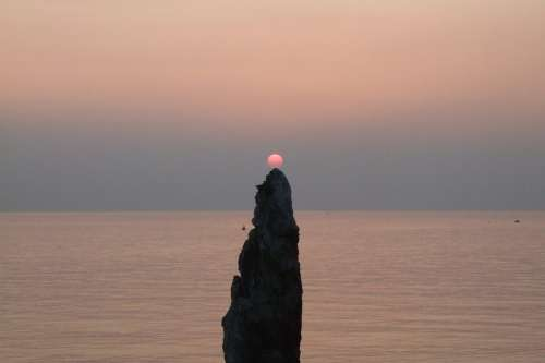 Gangwon Do Candlestick Rock Sunrise