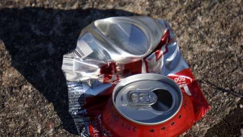 Garbage Aluminum Can Broken Deposit Return