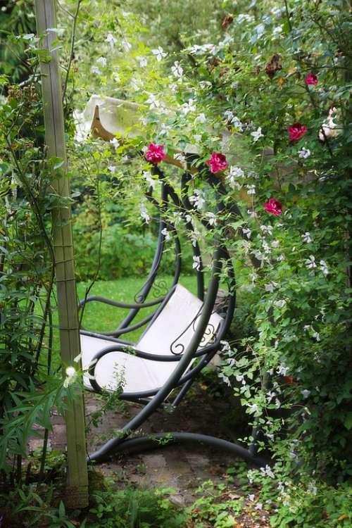 Garden Bench Garden Nature Recovery Romance