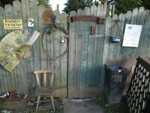 Garden Gate Goal Wooden Gate Wood Old Salon