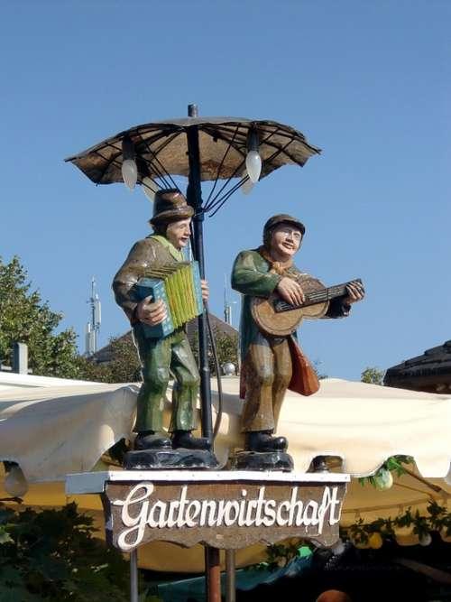Garden Restaurant Figures Wooden Figures Shield