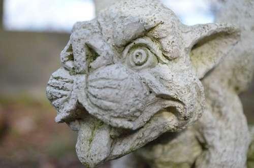 Garden Statue Stone Figure Gargoyle