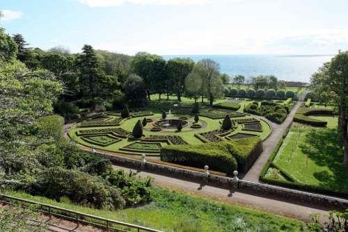 Gardens Scotland Sky Grass Sea Scenic Europe