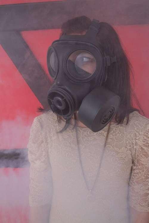 Gas Mask Girl Dress Smoke Woman Fog Abc-Attack