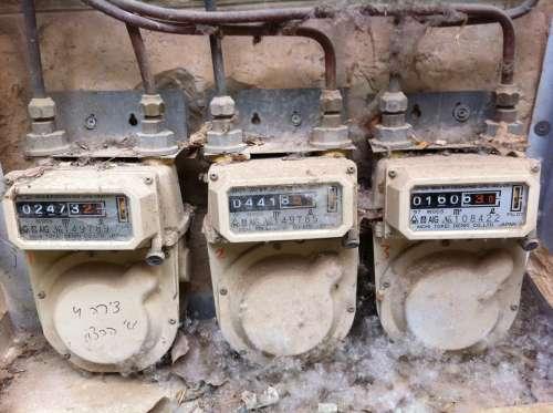 Gas Meter Old Damaged Flow Meter Measure Volume
