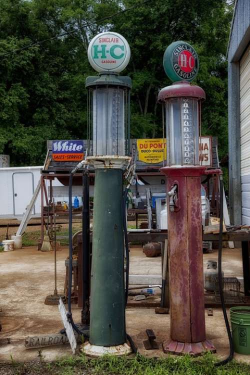 Gas Pumps Antiques Alabama Petrol Station Historic