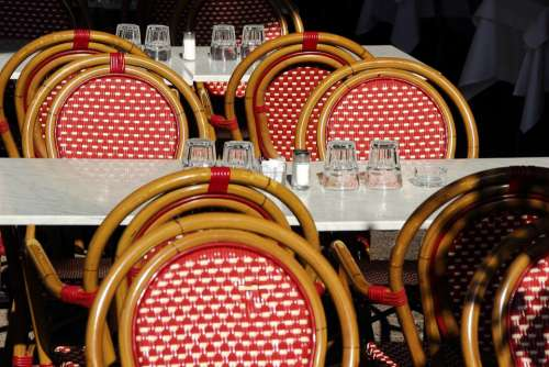Gastronomy Outside Catering Dining Tables Chairs