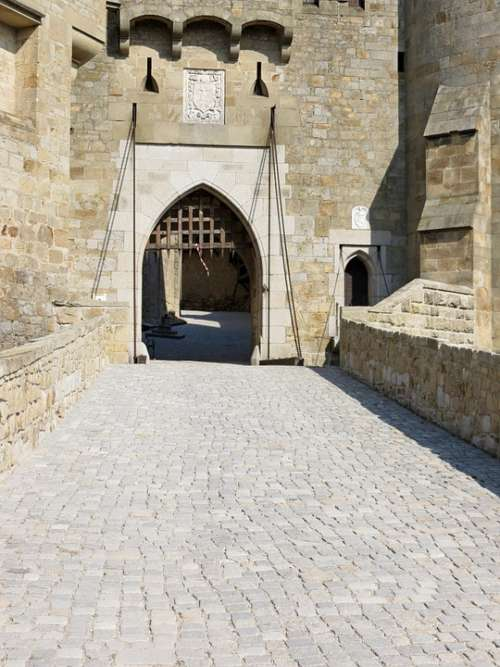Gate Entrance Castle Medieval Bridge Building