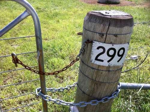 Gate Fence Rural Farm Weathered Steel Rusty