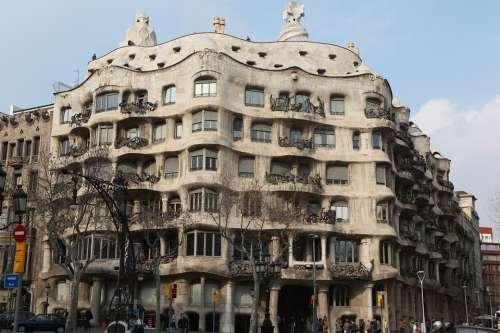 Gaudí Barcelona Spain Architecture City Building