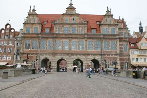 Gdansk Danzig Poland Travel City Old Building