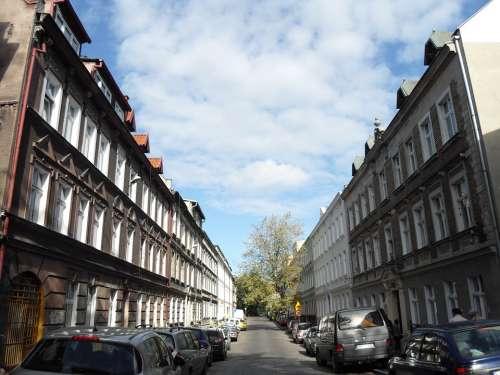 Gdansk Poland City Cities Buildings Urban Street