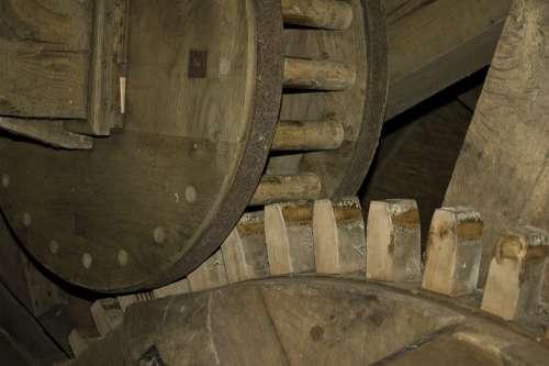 Gear Wooden Gear Mill Windmill Flour Mill Wind