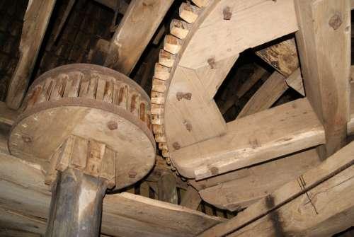 Gears Mill Grind Translation Wood