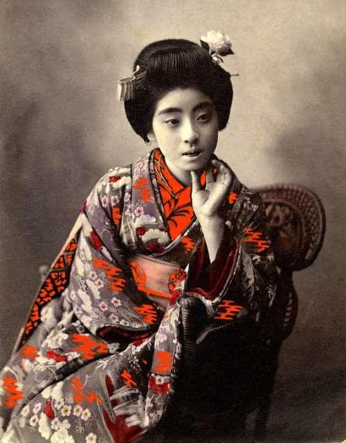 Geisha Retro Vintage Japanese Asia