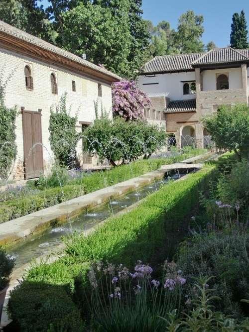 Generalife Palace Garden Spain Alhambra