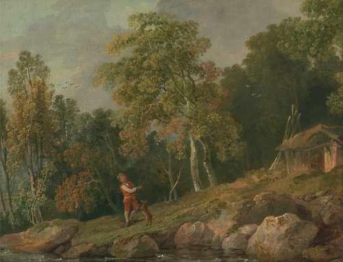 George Barret Art Painting Oil On Canvas Landscape