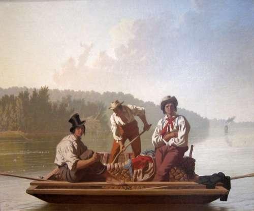George Bingham Art Painting Oil On Canvas Artistic