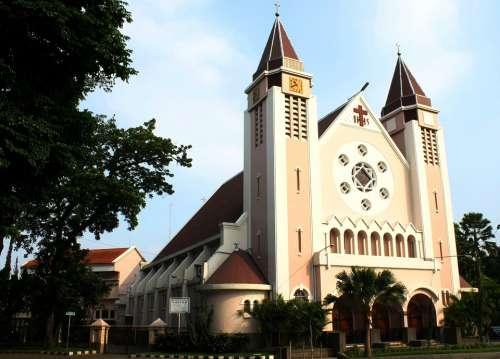 Gereja Ijen Katholik Malang Jawa Timur Indonesia