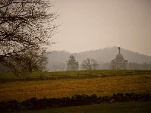 Gettysburg Pennsylvania Battlefield Landscape Sky