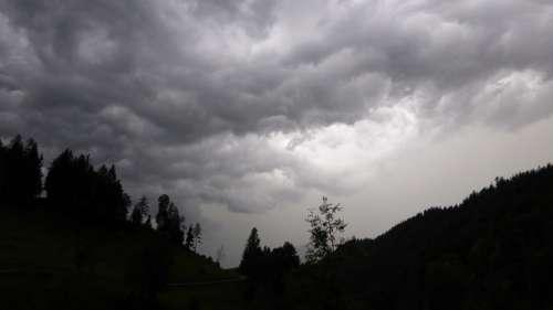 Gewitterstimmung Nature Clouds Landscape