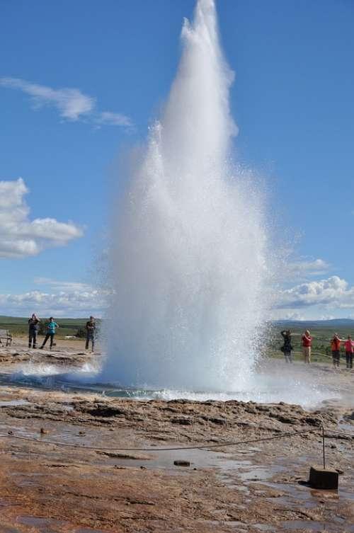 Geyser Strokkur Iceland Boiling Water