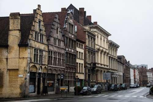 Ghent Belgium Facade Old Building Architecture