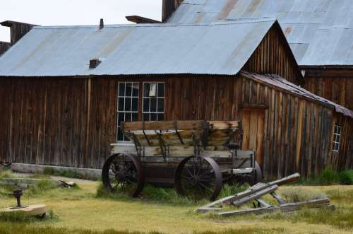 Ghost Town Bodie Rustic Historic Wagon