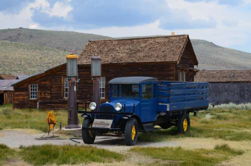 Ghost Town Bodie Rustic Historic Truck
