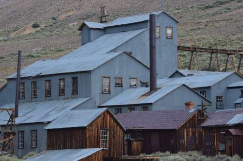 Ghost Town Bodie Rustic Historic Mine