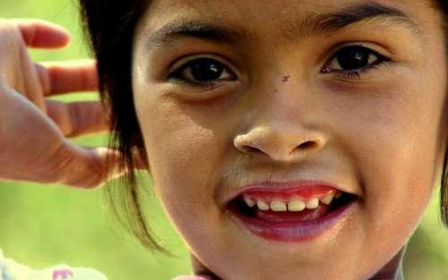 Girl Smiling Girl Joy Portrait Poverty Humility