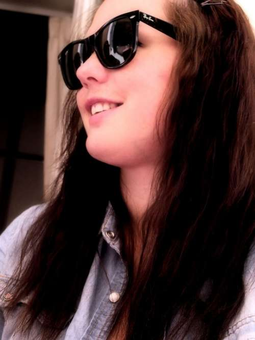 Girl Long Hair Sunglasses Face Smiling Smile