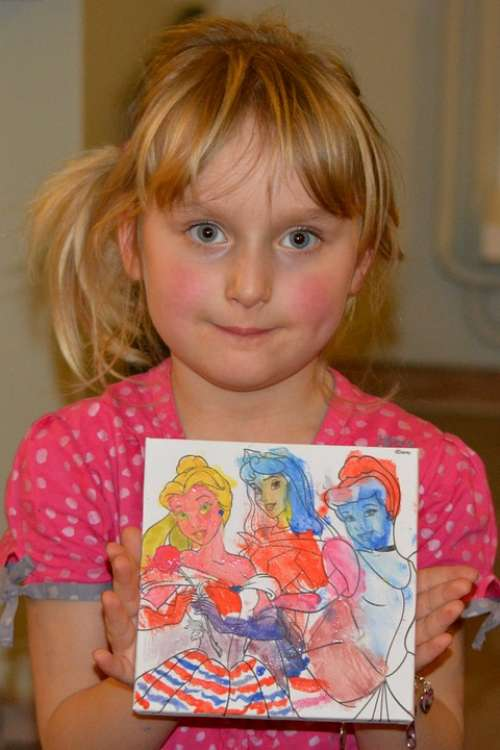 Girl Drawing Child People Princesses Pride
