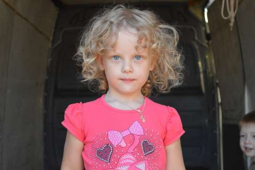 Girl Blond Young Kid Child Infant Cute