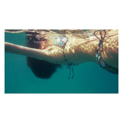 Girl Swimming Sea Summer Water Female Travel