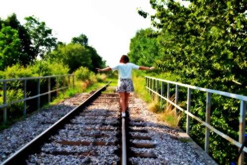 Girl Holidays Summer Nature Tracks