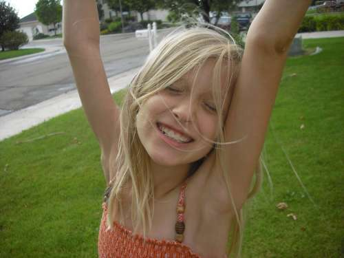 Girl Child Kid Smiling Joy Happy