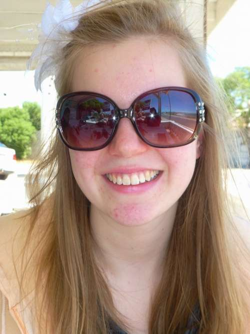 Girl Smile Vacations Sunglasses