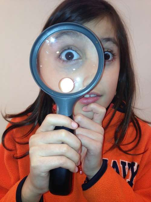 Girl Loupe Eye Discovery Science Magnifying Glass