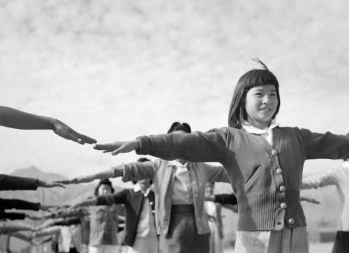 Girl Children Manzanar World War Ii Black And White