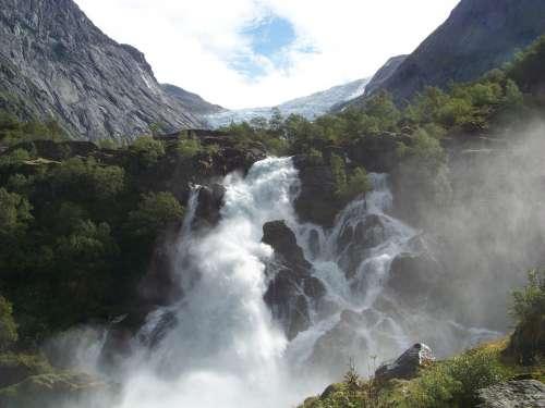 Glacier Waterfall Norway
