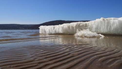 Glacier Sea Quiet Of