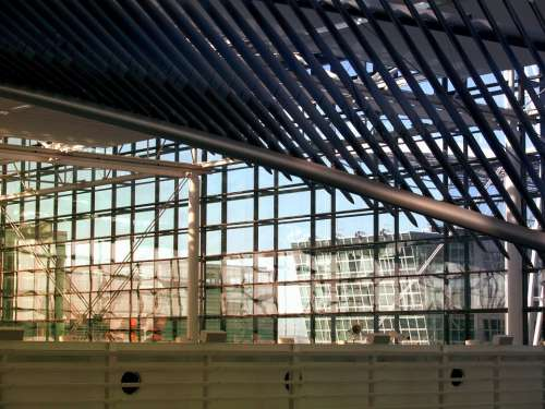 Glass Metal Roof Construction Architecture