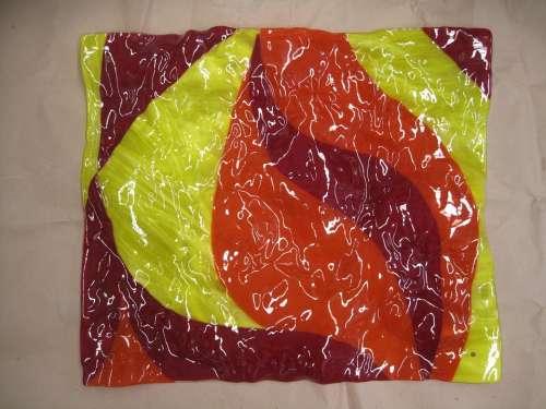 Glass Yellow Orange Red Macro Light Wrinkle