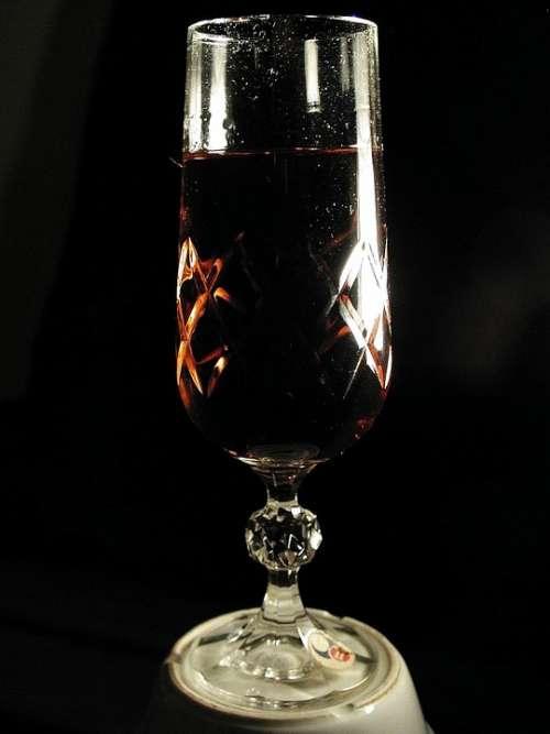 Glass Crystal Wine Drink Food